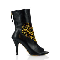 DINARA Studded Heart Ankle Boot