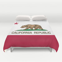 California Republic state flag - Authentic Version Duvet Cover by LonestarDesigns2020 - Flags Designs +
