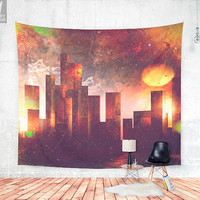 Good night Manhattan Wall tapestry