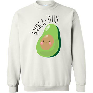 AVOCADUH - Bella Canvas Unisex Avocado Graphic Sweatshirt
