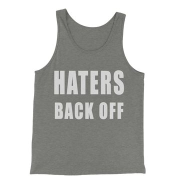 Haters Back Off Jersey Tank Top for Men