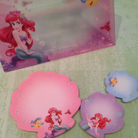 The Little Mermaid/Ariel Sticky Notes with Envelope- Tokyo Disney Resort Exclusive
