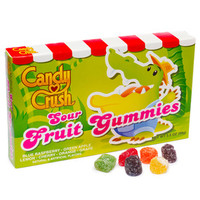 Candy Crush Sour Fruit Gummy Candy Theater Boxes: 12-Piece Case