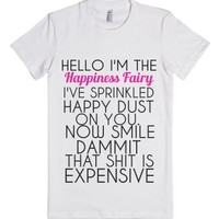 Happiness Fairy-Female White T-Shirt
