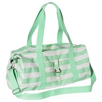 Mossimo Supply Co. Striped Weekender Handbag with Removable Crossbody Strap - Mint/White
