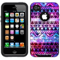 Otterbox Commuter Nebula Black Aztec Galaxy Case for Apple iPhone 4