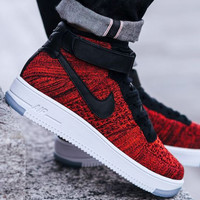 """NIKE"" Trending Fashion Casual Sports Shoes High Top Red"