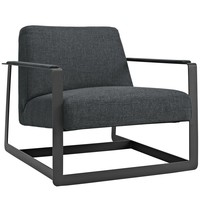 Seg Upholstered Fabric Accent Chair