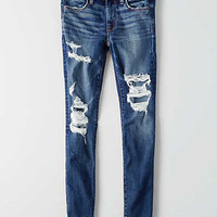 AEO Denim X Hi-Rise Jegging, Slasher Blue