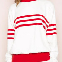 Striped Knit Sweater B0014021