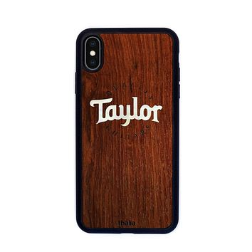 Indian Rosewood & Taylor Pearl Logo | Phone Case