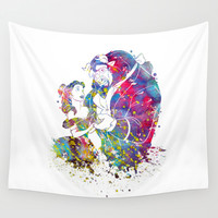 Beauty and the Beast Wall Tapestry by Bitter Moon
