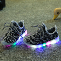 Fashion LED light shoes 1 to 12 years old baby boys and girls sports shoes and kids sneakers