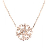 stone - 18kt rose gold once upon a time necklace with white diamonds