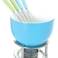 Orka Chocolate Fondue Set, Blue