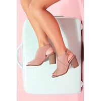 Danie Strappy Booties (Pink)