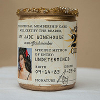 27 Club Amy Winehouse Candle