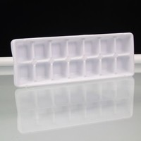 White Ice Cube Tray Vintage Arrow USA Made LDPE Plastic Old Fashioned Ice Maker