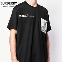 BURBERRY New Women Men Casual Deer Print Short Sleeve T-Shirt Top