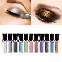 Single Roller Color Eyeshadow Glitter Pigment Loose Powder Eye Shadow Makeup