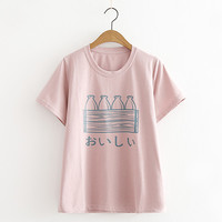 Pastel Shirt Bottle Cute Casual Soft Tops