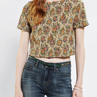Urban Outfitters - Pins And Needles Tapestry Cropped Top
