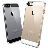 iPhone 5S Case, Spigen® [Ultra Fit] Exact-Fit [Crystal Clear] Slim Case for the iPhone 5S / 5 - Crystal Clear (SGP10608)