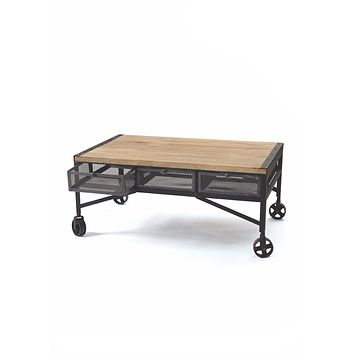 Throwback Industrial Coffee Table by Go Home Ltd.