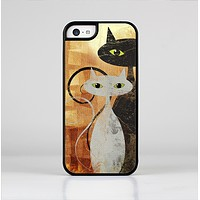 The Orange Grungy Textured Cat Skin-Sert Case for the Apple iPhone 5c