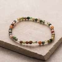 Indian Agate Mini Energy Gemstone Bracelet