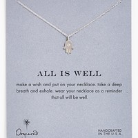 Women's Dogeared 'Reminder - All is Well' Boxed Hamsa Pendant Necklace