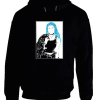 Halsey Sketch White And Blue Hoodie
