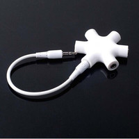 3.5mm Earphone Headphone Audio Splitter 1 Male to 2 3 4 5 Female Port Cables = 5617236673