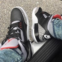 KU-YOU NIKE AIR BLACK CEMENT 3s
