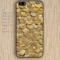 iPhone 6 case Gold COINS golden iphone case,ipod case,samsung galaxy case available plastic rubber case waterproof B116