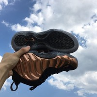 [Free Shipping]Nike Air Foamposite One Copper OG Size 5-15 Black Metallic Copper 314996-007  Basketball Sneaker