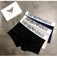 Emporio Armani 2019 new men's cotton breathable boxer briefs three-piece