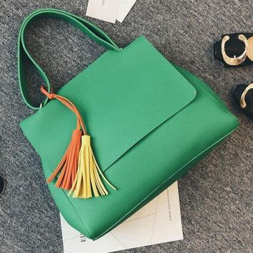 Emerald Shoulder Bags With Candy Tassel-In Stock