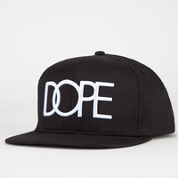 Dope Logo Mens Snapback Hat Black One Size For Men 22160910001