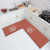 Gucci GG fashion kitchen floor mats, absorbent non-slip door mats for bathrooms and toilets, bedroom bedside carpet