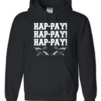 Amazon.com: Adult Hap-pay Hap-pay Hap-pay Happy Happy Happy Duck Dynasty Duck Hunting Hooded Sweatshirt Hoodie: Clothing