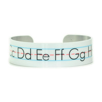 ABC Alphabet  Aluminum Teacher Bracelet