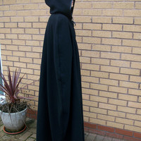 Full length cape cloak with hood for Adult available in red black white blue yellow brown gray green