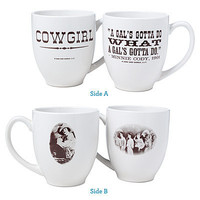 COWGIRL MUGS - SET OF TWO   Coffee Cup, Tea, Glassware, Ceramic, Serveware   UncommonGoods
