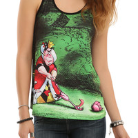 Disney Alice In Wonderland Queen Of Hearts Croquet Girls Tank Top