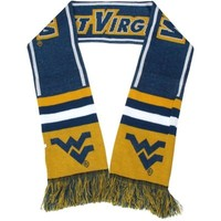 West Virginia Mountaineers Wordmark Scarf - Navy Blue/Gold