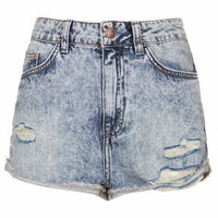 MOTO Hallie Denim Hotpants - Bleach Stone