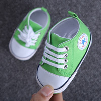 1 Pair Brand New Casual Spring Autumn Baby Shoes Newborn Boy Girl Sports Shoes First Walkers Kids Children Canvas Shoes MY1733