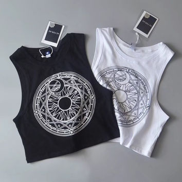 Black And White Crop Tops [11335912271]