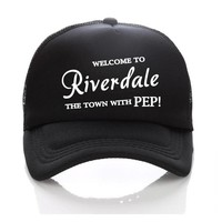 Trendy Winter Jacket Welcome to riverdale the town with PEP! Cap Summer Trucker Hats Kids Baseball Hats Riverdale Sun Caps Adult/Children Snapbacks AT_92_12